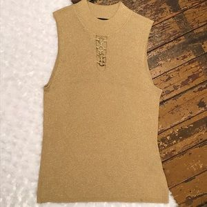 August Silk Stretchy Sleeveless Tank Top XL Large
